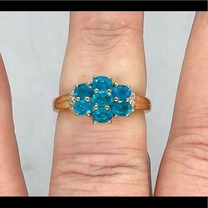 Genuine Neon Apatite Ring